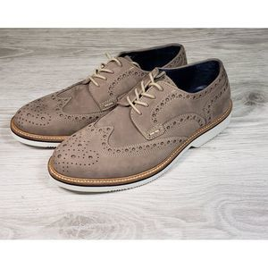 14th & Union Tan Suede Lace Up Oxfords